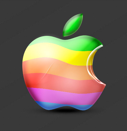 apple-logo-retro-3d